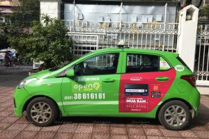 quảng cáo taxi cho lazada