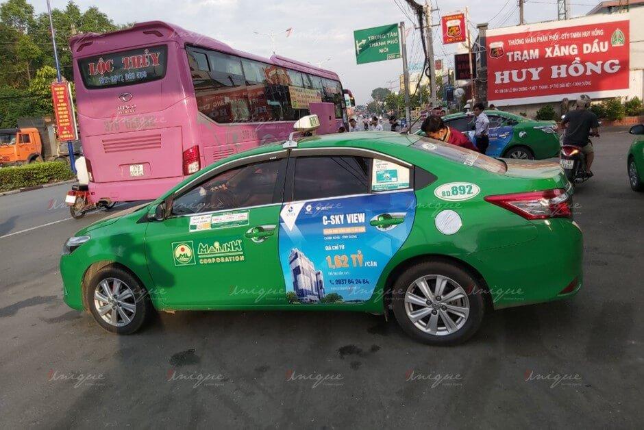 quảng cáo taxi ở đồng nai