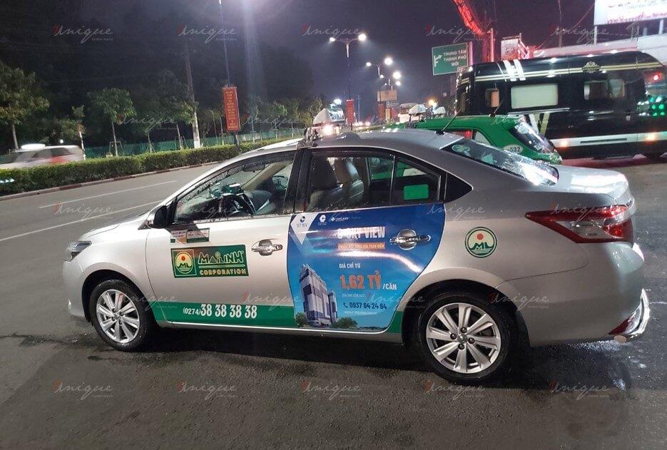 quảng cáo taxi tại bình phước