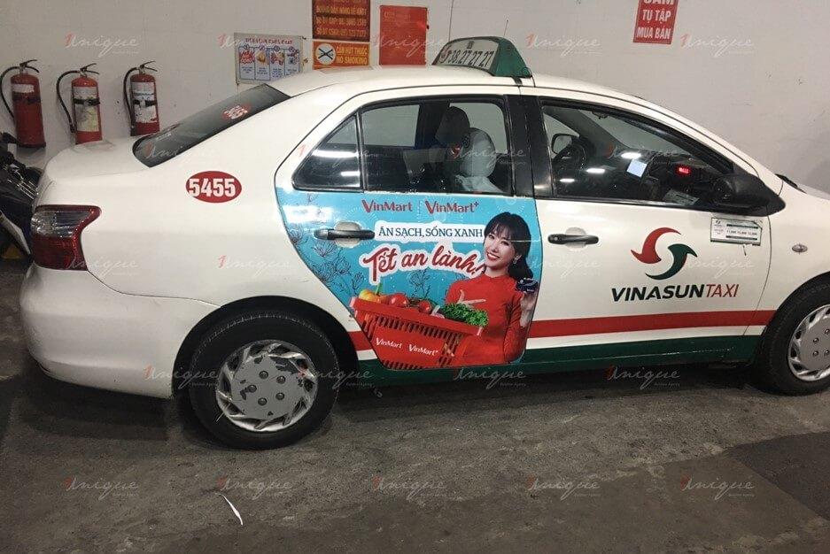 quảng cáo taxi vinasun
