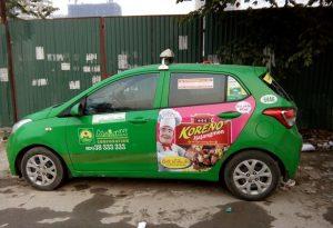quảng cáo taxi tại điện biên