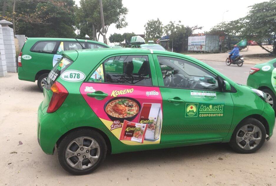 quảng cáo taxi tại sơn la