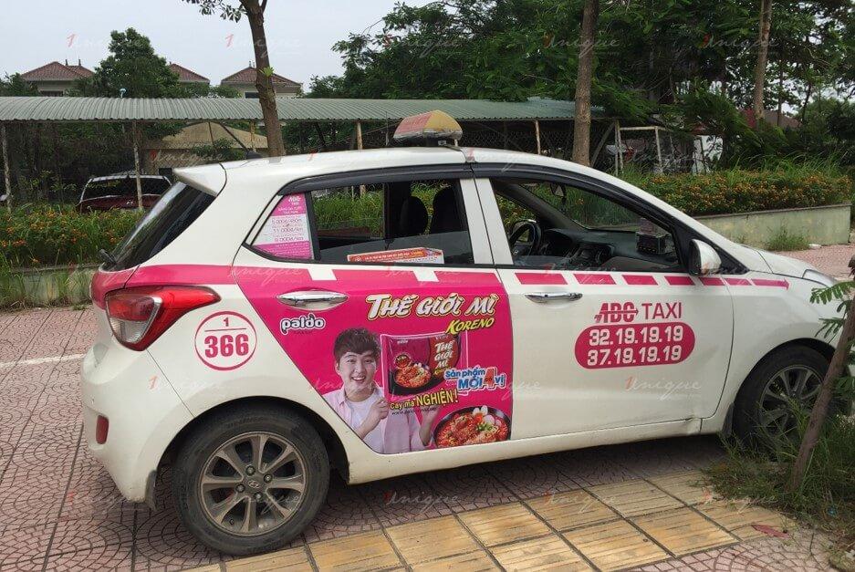 quảng cáo taxi ABC