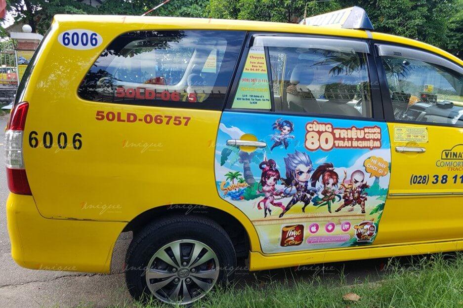 quảng cáo trên vina taxi