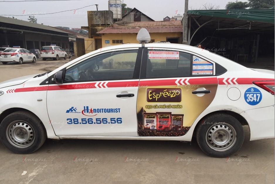 quảng cáo taxi cho kag
