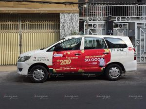 Dịch vụ quảng cáo trên taxi VinaSun