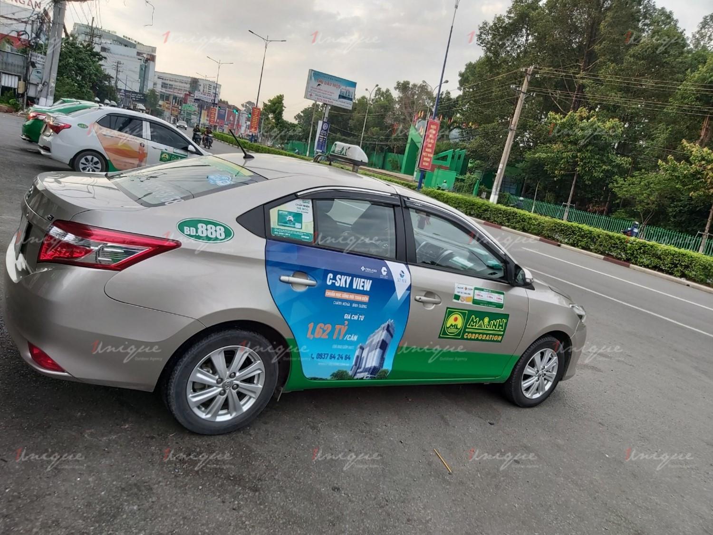 Chiến dịch quảng cáo trên taxi của bất động sản C-Skyview Bình Dương